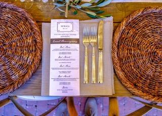 Hemingway menu card on table